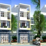 Mẫu thiết kế nhà đẹp 4 tầng hiện đại 4×18.5m
