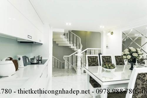Phòng bếp nhà phố 3x10m