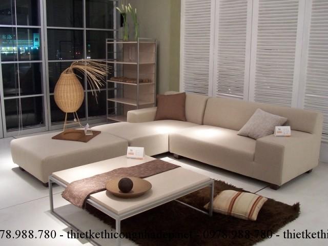 Một bộ ghế sofa phòng khách màu be sẽ đem lại vẻ đẹp quyến rũ và thanh mát cho căn phòng nhà bạn