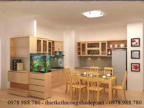 Một số chú ý trong thiết kế nội thất phòng bếp chung cư