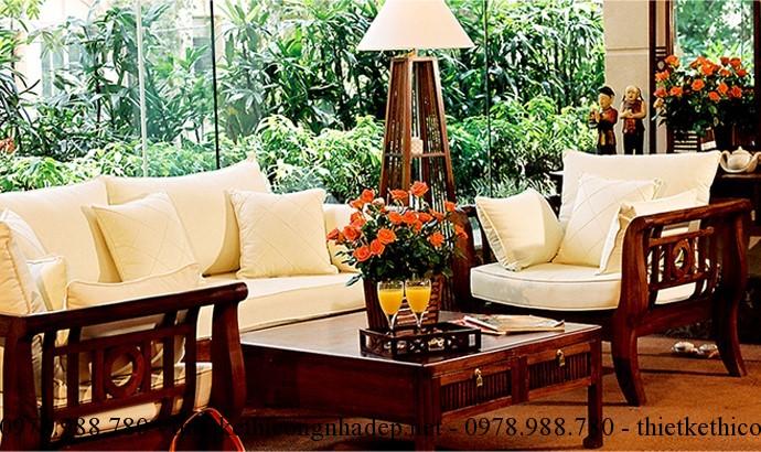 Sofa gỗ phòng khách là một trong những kiểu sofa được rất nhiều người ưa chuộng