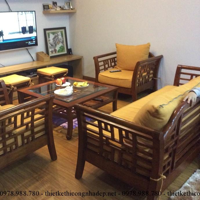 Sofa gỗ cần chọn bộ đệm mút thoải mái khi sử dụng, không quá cứng cũng không quá mềm