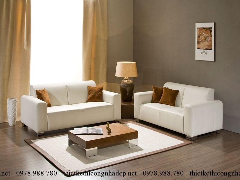 Một bộ ghế sofa văng nhỏ 2-3 chỗ ngồi sẽ là vừa đủ cho những căn phòng hẹp và nhỏ