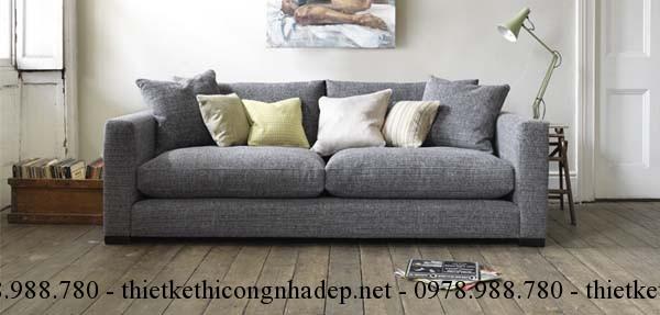 Đặt ghế sofa phòng khách dựa tường sẽ giúp gia chủ có nhiều tài lộc trong sự nghiệp