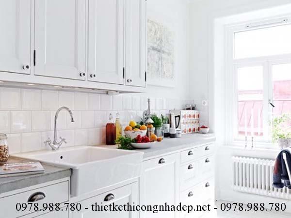 Thiết kế nội thất phòng bếp cũng đồng nhất với thiết kế nội thất của phòng ngủ và phòng khách