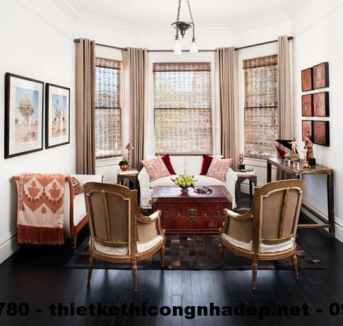 Những đồ nội thất nhỏ sẽ làm cho phòng khách có nhiều diện tích trống hơn