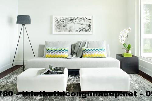Cây xanh giúp đánh lừa về diện tích cho phòng khách