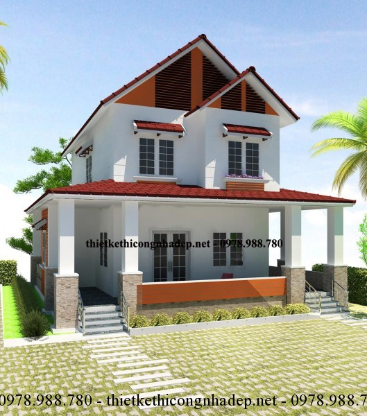 biệt thự 2 tầng Country House 10x12m
