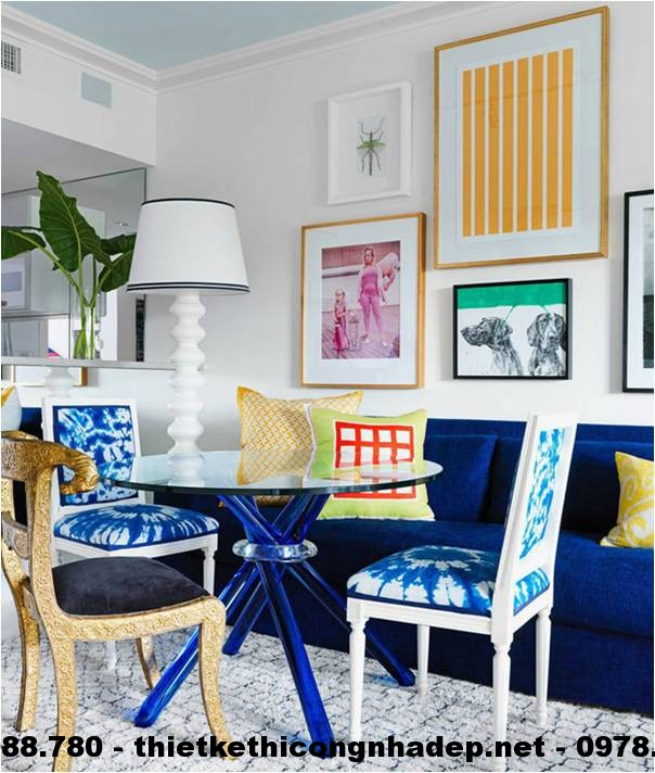 Màu xanh nằm trong xu hướng màu sắc thiết kế nội thất năm 2015