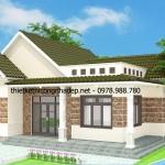 Thiết kế biệt thự nhà vườn 1 tầng mái thái 11×13 Vĩnh Phúc