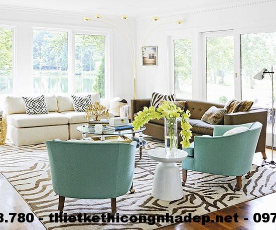 Phòng khách có không gian khiến chúng ta có cảm giác vô cùng dễ chịu và thoải mái.