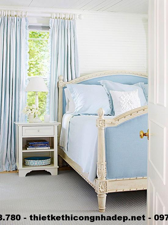 Thiết kế nội thất phòng ngủ với gam màu lãng mạn