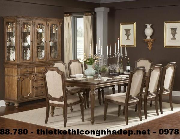 Bàn ghế ăn cổ điển Châu Âu BGACD2