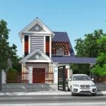 Thiết kế biệt thự 2 tầng mái thái 8x12m tại Ninh Bình