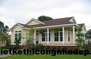 Thiết kế mẫu nhà đẹp 1 tầng hiện đại mái thái 10x15m