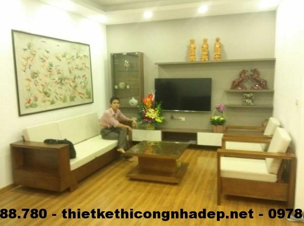 Thi công nội thất chung cư P1603 – 18T1- Lê Văn Lương