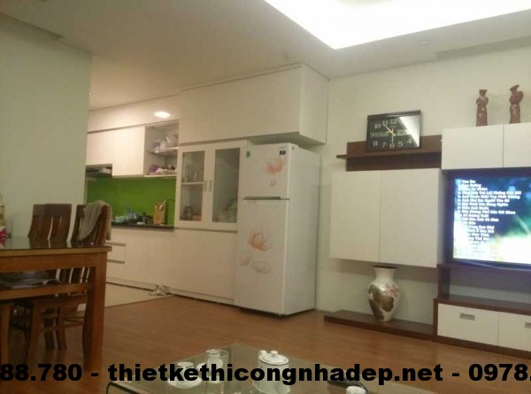 Tủ bếp chung cư Kim văn