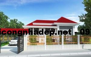 Thiết kế mẫu nhà cấp 4 mái thái đẹp 8x12m
