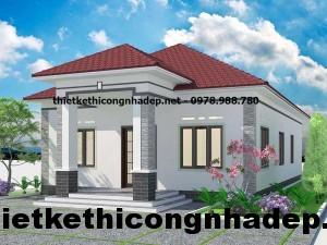 Mẫu thiết kế nhà một tầng mái thái 10x16m tại Bạc Liêu