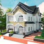 Thiết kế mẫu nhà đẹp 2 tầng mái thái 12x16m