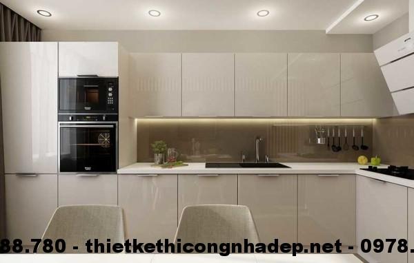 Nội thất phòng bếp nhà cấp 4 13x13m view 2