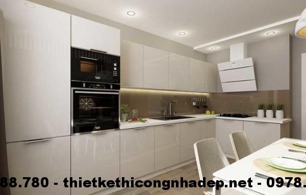 Nội thất phòng bếp nhà cấp 4 13x13m view 3