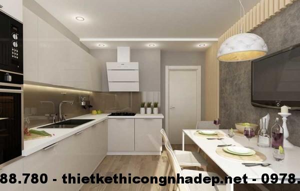 Nội thất phòng bếp nhà cấp 4 13x13m view 4