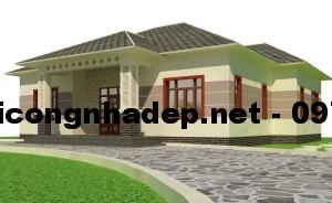 Mẫu thiết kế nhà biệt thự 1 tầng mái thái 11x14m tại Yên Bái