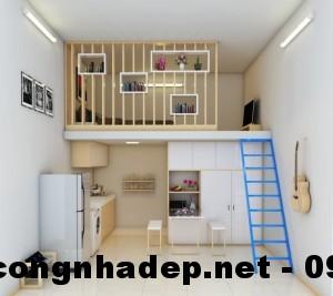 Thiết kế nội thất phòng trọ, thiết kế phòng trọ 20m2