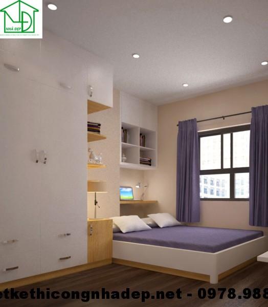Nội thất phòng ngủ chung cư HH3C