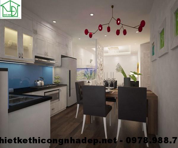 Phòng bếp chung cư HH3C