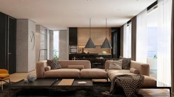 Thiết kế phòng khách chung cư đẹp, nội thất chung cư đẹp