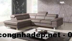 Mẫu bàn ghế sofa góc, sofa góc cao cấp, sofa da