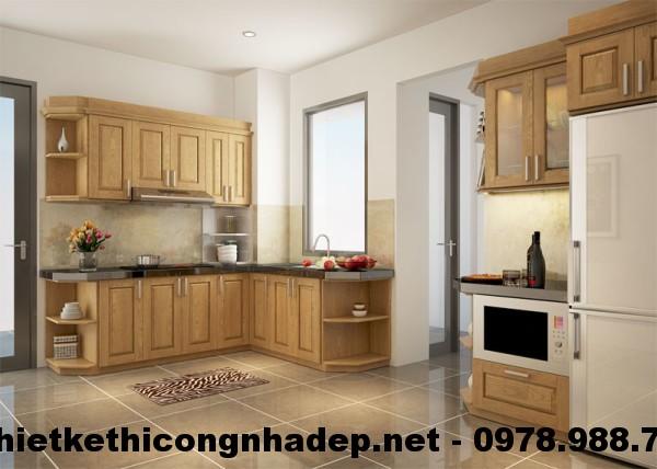 Tủ bếp chung cư CT12A