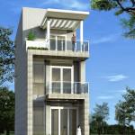 Mẫu nhà đẹp 3 tầng, mẫu nhà ống đẹp 3 tầng 5x15m NDNP3T1
