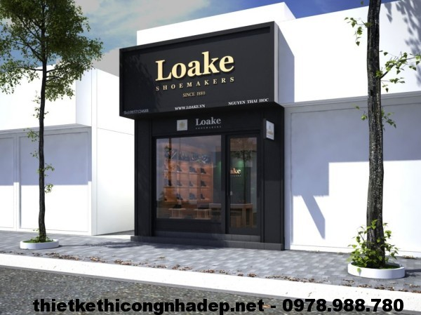Thiết kế shop giày, thiết kế cửa hàng giày dép Loake Shop NDTKS2