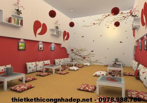 Mẫu thiết kế quán cafe đẹp NDCF2