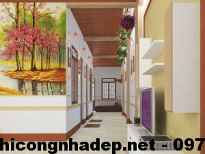 Thiết kế nội thất nhà cấp 4, nội thất nhà cấp 4 mái tôn NDNC410
