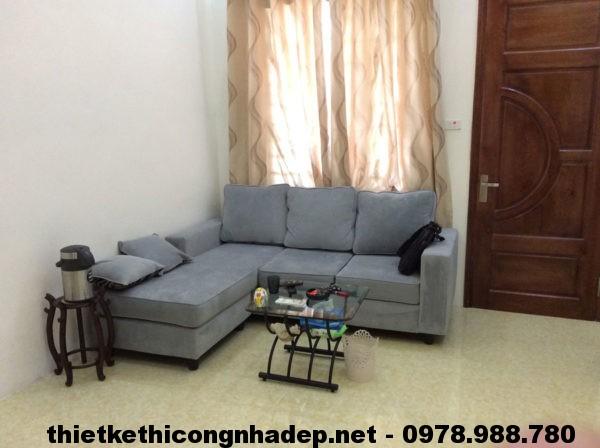 Phòng khách nhà cấp 4 30m2 đẹp NDNC411