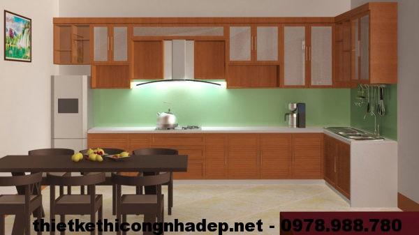 Tủ bếp nhôm kính NDNC410