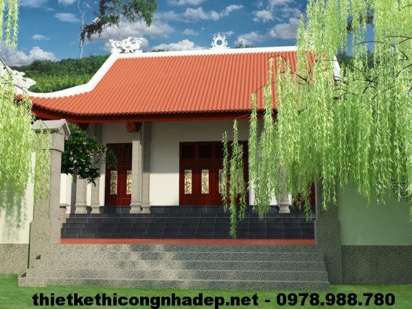 Thiết kế đền chân suối, đền chân suối Tam Đảo Vĩnh Phúc NDNTH2