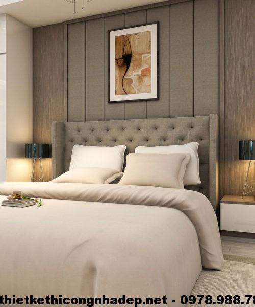 Giường ngủ bọc nỉ đẹp NDNTPN1