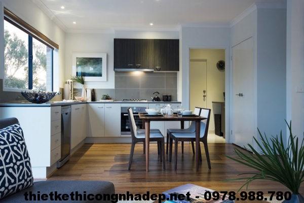 Phòng bếp biệt thự đẹp NDBT1T10