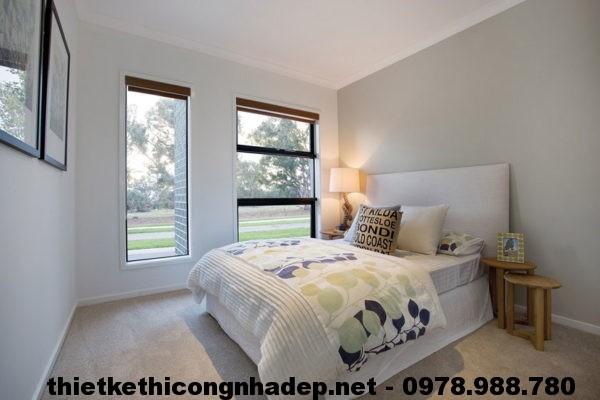 Phòng ngủ 2 biệt thự đẹp NDBT1T10