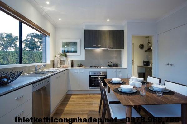 Tủ bếp bàn ghế ăn biệt thự NDBT1T10