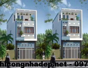 Mẫu nhà 2 tầng 4×12, mẫu nhà phố 2.5 tầng đẹp NDMN2T2