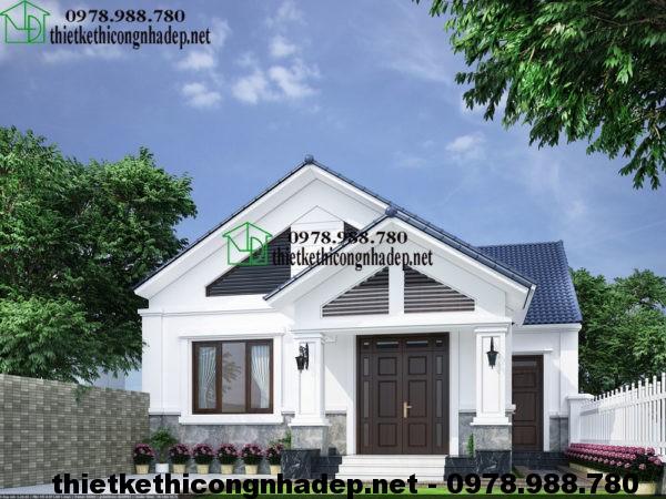 Mẫu nhà cấp 4 đẹp, thiết kế nhà cấp 4 mái thái 10x13m NDNC414