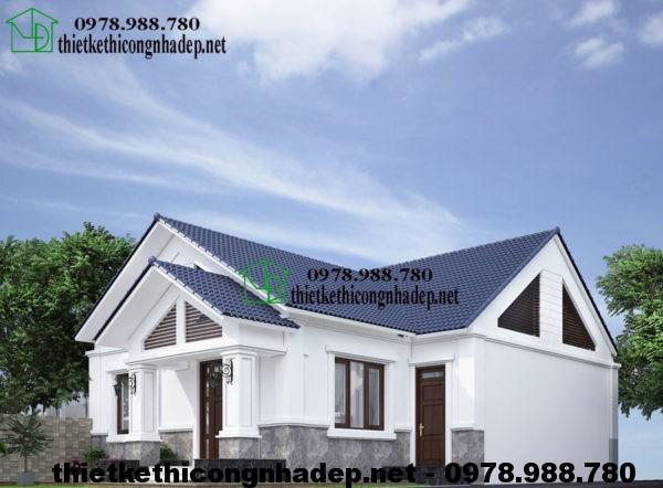 Thiết kế nhà cấp 4 mái thái NDNC413