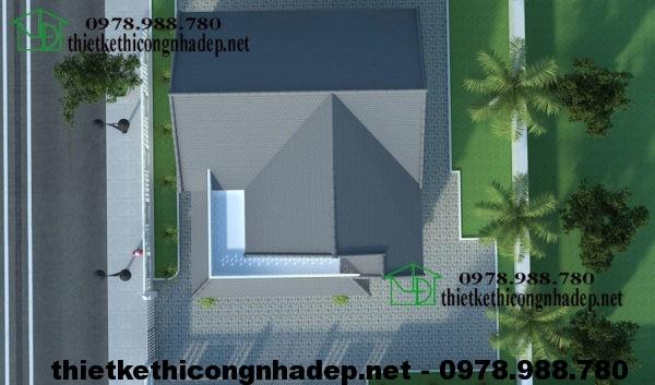 Mẫu thiết kế biệt thự 1 tầng NDBT1T12