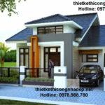 Nhà cấp 4 gác lửng, mẫu nhà cấp 4 mái thái đẹp NDNC416
